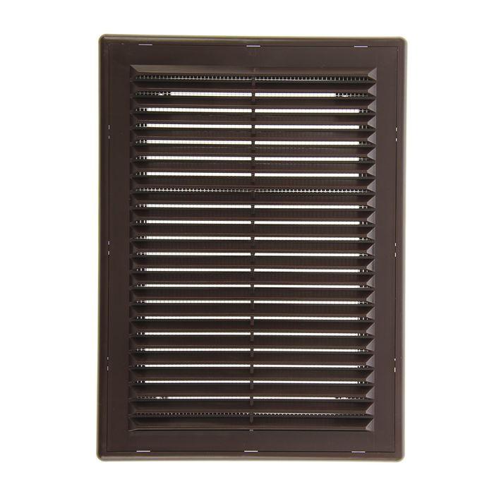"""Решетка накладная """"Эковент"""" 1825 Р, 253x183 мм, цвет коричневый"""