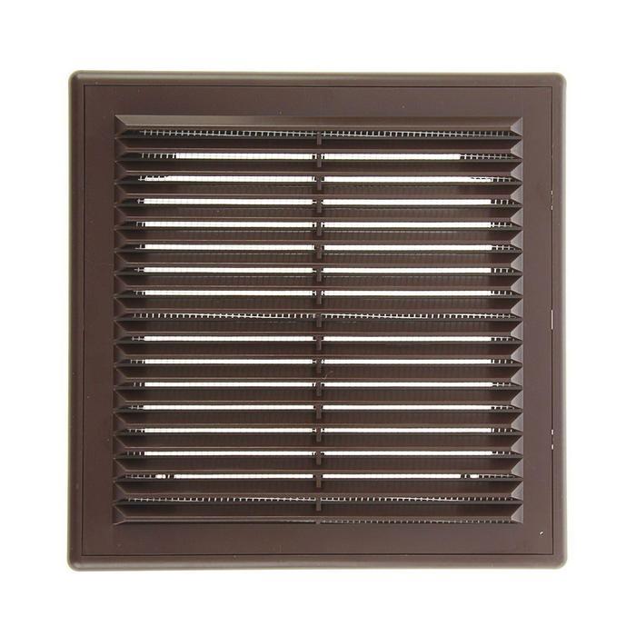 Решетка вентиляционная ERA 2121 Р, 208x208 мм, цвет коричневый
