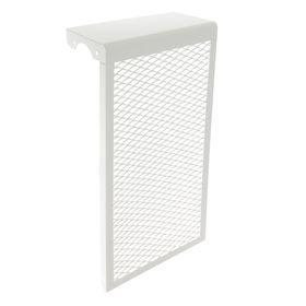Экран на чугунный радиатор, 290 х 610 х 142 мм, 3 секции, металлический, белый