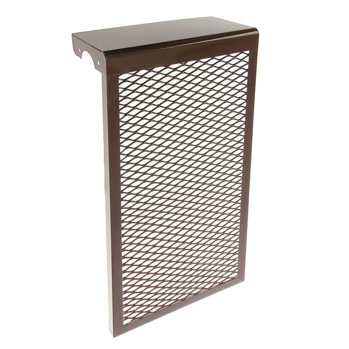 Экран на радиатор, 3-х секционный, металлический, цвет коричневый