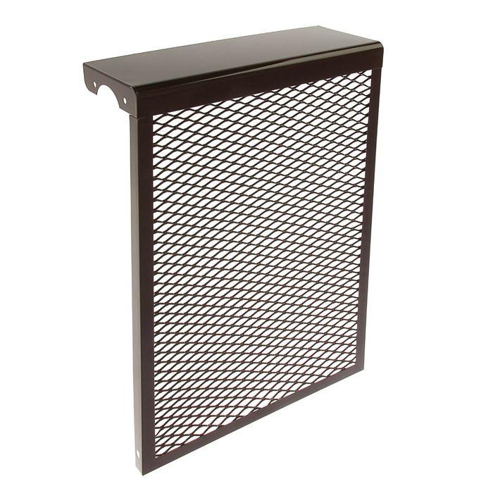 Экран на радиатор, 4-х секционный, металлический, цвет коричневый