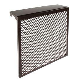 Экран на радиатор, 5-х секционный, металлический, цвет коричневый