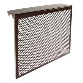 Экран на радиатор, 6-х секционный, металлический, цвет коричневый