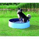 Бассейн Trixie для собак, ф 160 x 30 см, голубой/синий