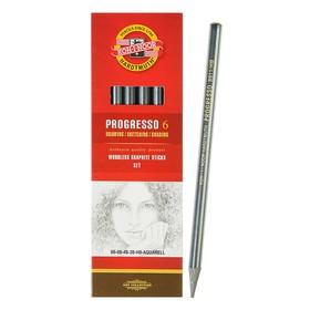 Набор карандашей цельнографитовых разной твердости 6 штук, Koh-i-Noor PROGRESSO 8915 8B-HB, картон