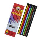Карандаши художественные цветные Koh-I-Noor PROGRESSO 8755 6 цветов цельнографитовые в картонной коробке