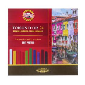 Dry art pastel Soft Koh-I-Noor TOISON D`OR 8584, 24 colors, 7 x 7 / 75mm.