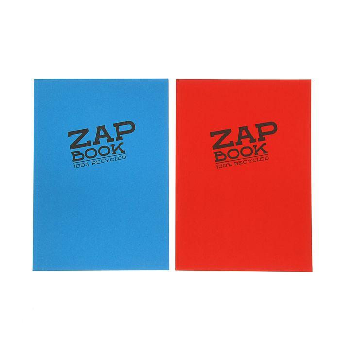 Блокнот для рисунков А4 80 г/м2 Clairefontaine Zap Вook 160 листов, склейка, 3 вида 3354С