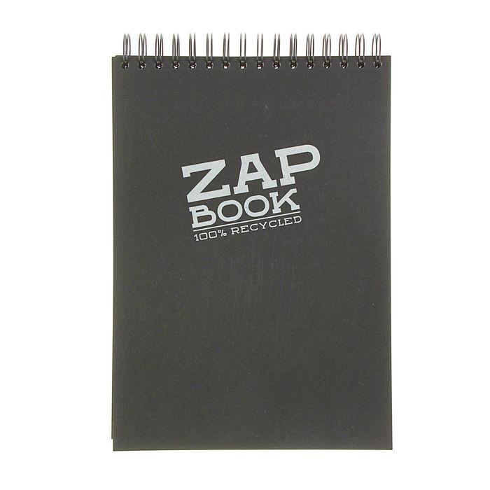 Блокнот для рисунков А4 80 г/м2 Clairefontaine Zap Вook 160 листов, спираль чёрный 8363С
