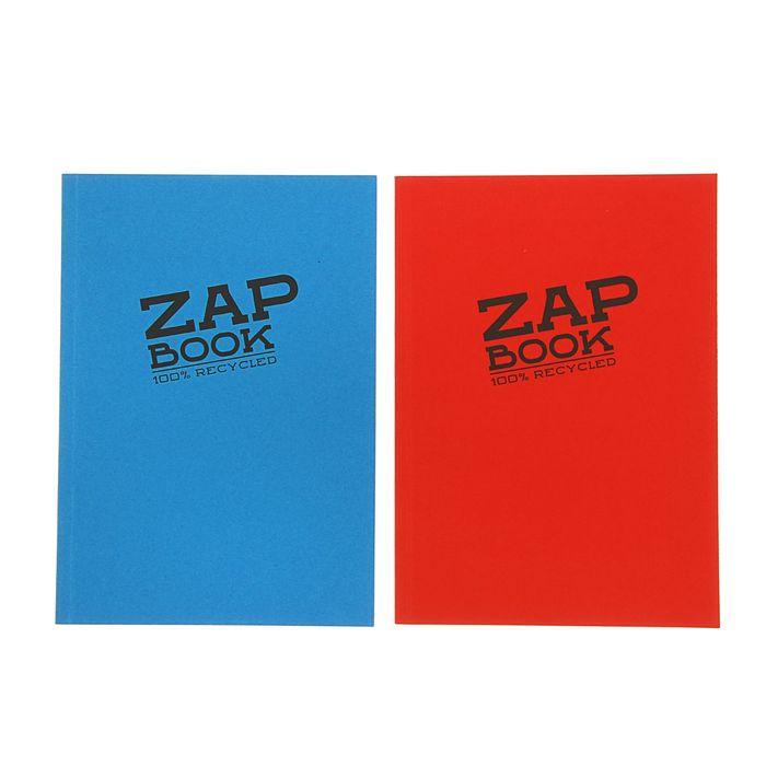 Блокнот для рисунков А5 80 г/м2 Clairefontaine Zap Вook 160 листов, склейка, 4 вида 3355С