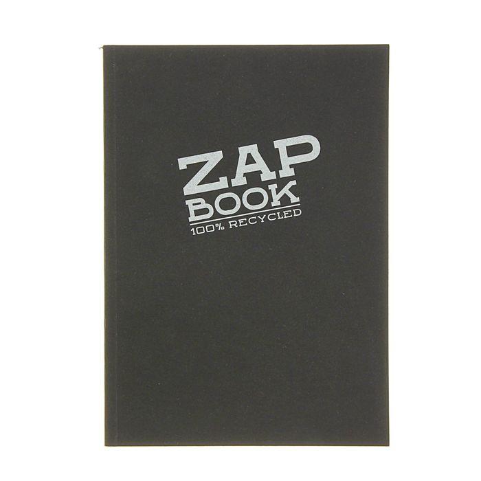 Блокнот для рисунков А5 80 г/м2 Clairefontaine Zap Вook 160 листов, чёрный, склейка 3364С