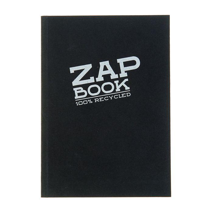 Блокнот для рисунков А6 80 г/м2 Clairefontaine Zap Вook 160 листов, склейка чёрный 3363С