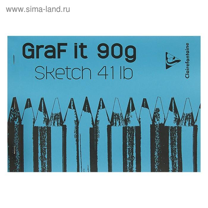 Блокнот для рисунков А4 90 г/м2 Clairefontaine Graft It 80 листов, склейка, с перфорацией 96681С