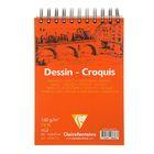 Блокнот для рисунков А5 160 г/м2 Clairefontaine Dessin Croquis 35 листов, спираль Белый 96676С