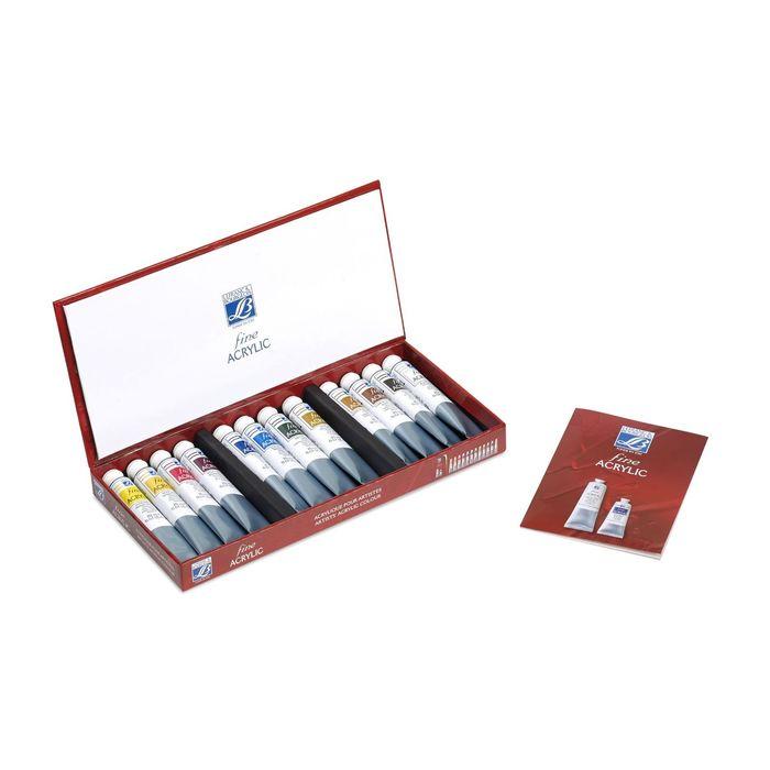 Краска акрил в тубе набор 12 цветов *20 мл LeFranc&Borgeois LOUVRE FINE LF236155