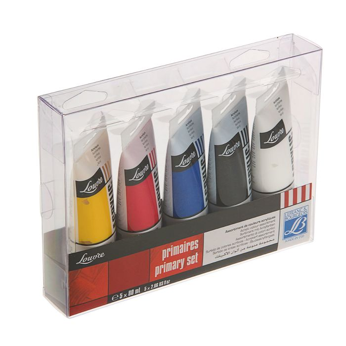 Краска акрил в тубе набор 5 цветов *80 мл LeFranc&Borgeois LOUVRE LF806755
