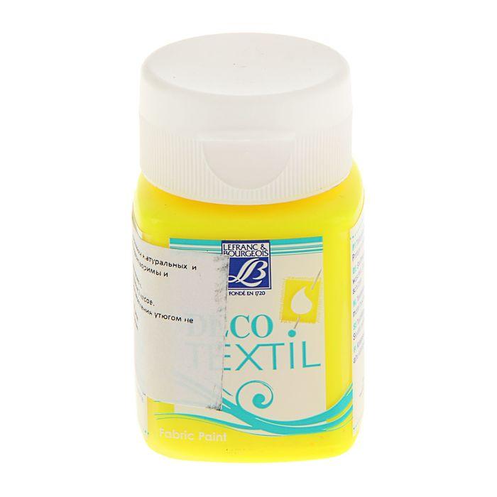 Краска для ткани 50 мл LeFranc&Borgeois DECO TEXTIL 163 Желтый неон LF211500