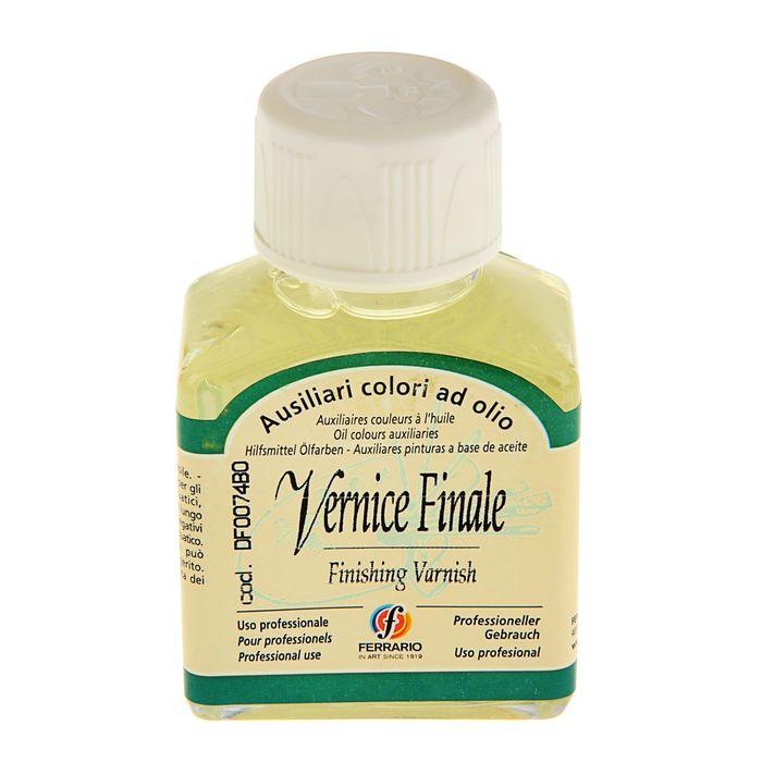 Лак для масла покрывной 75 мл Ferrario Vernice Finale банка/стекло DF0074BO