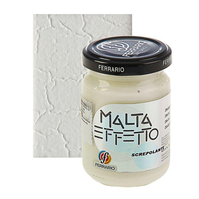 Паста текстурная белая 150 мл Ferrario MALTA кракелюрная CM150500