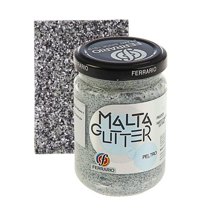 Паста текстурная 150 мл Ferrario MALTA с глиттерами №15 нефтяной 150015