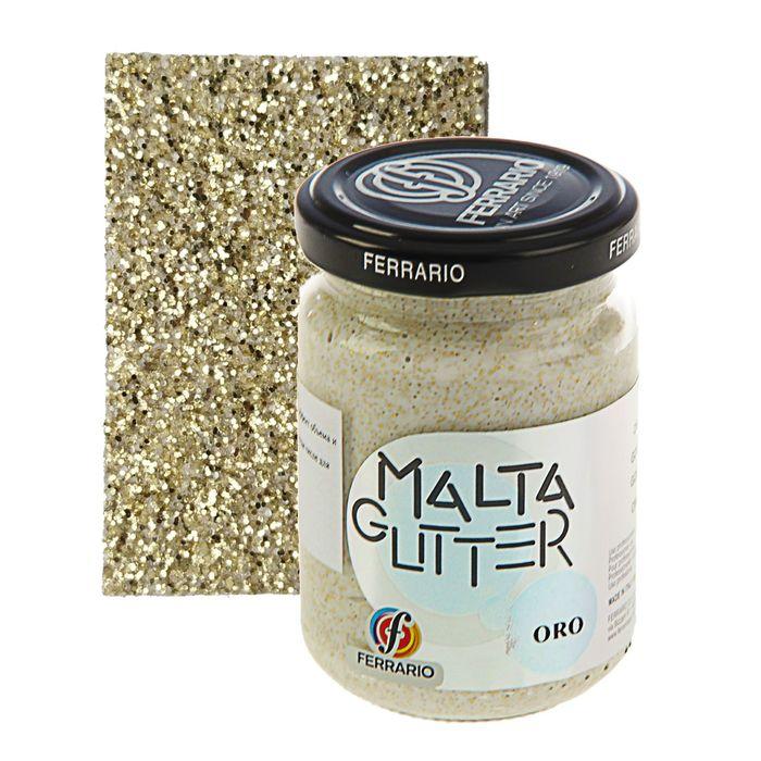 Паста текстурная 150 мл Ferrario MALTA с глиттерами №10 золото 150010