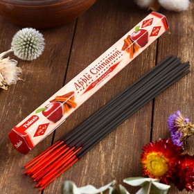 """Благовония Sarathi """"Яблоко Корица. Apple Cinnamon"""", 20 палочек в упаковке, шестигранник"""