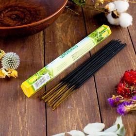 """Благовония Sarathi """"Lemon Grass. Лимонник"""", 20 палочек в упаковке, шестигранник"""