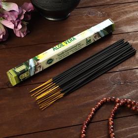 """Благовония Sarathi  """"Aloe Vera. Алое"""", 20 палочек в упаковке, шестигранник"""