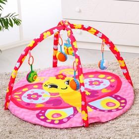Коврик развивающий «Бабочка», 85х85 см, дуги, 5 игрушек Ош