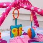 Коврик развивающий «Принцесса», 75х75 см, дуги, 5 игрушек - фото 105522915