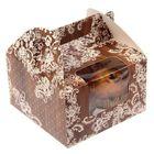 Коробочка для кексов «Кружевная», 16 х 16 х 10 см