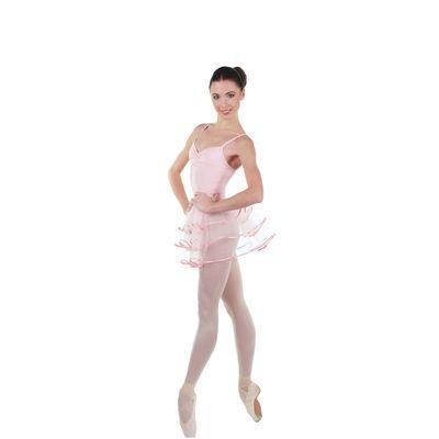 Трико для хореографии, размер 38, цвет розовый