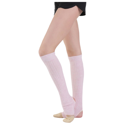 Гетры для танцев, с отверстием под пятку, 30 см, цвет розовый