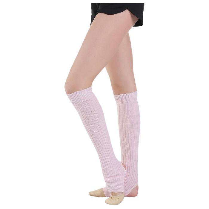 Гетры для танцев, с отверстием под пятку, 40 см, цвет розовый