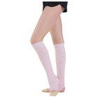 Гетры для танцев, с отверстием под пятку, 60 см, цвет розовый