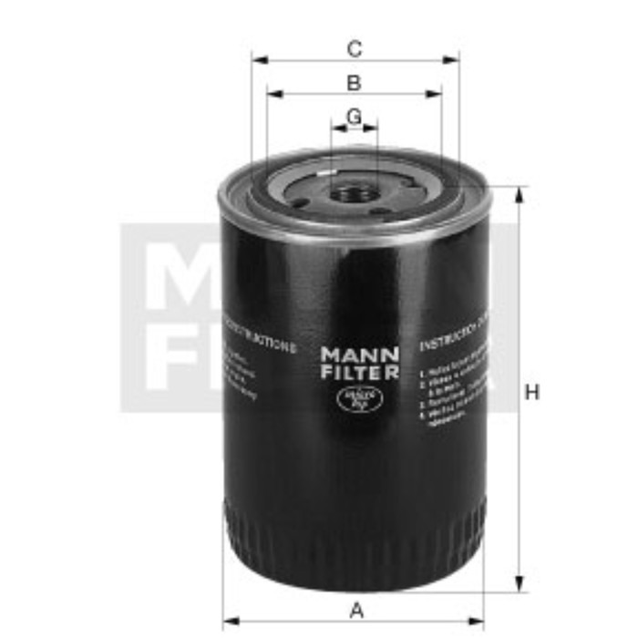Фильтр масляный MANN-FILTER W610/2