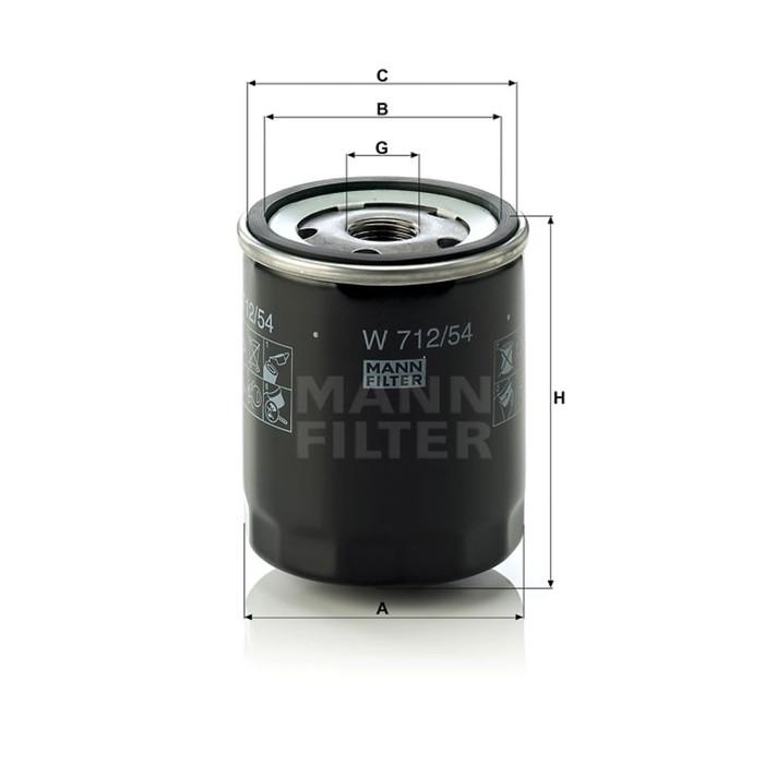 Фильтр масляный MANN-FILTER W712/54