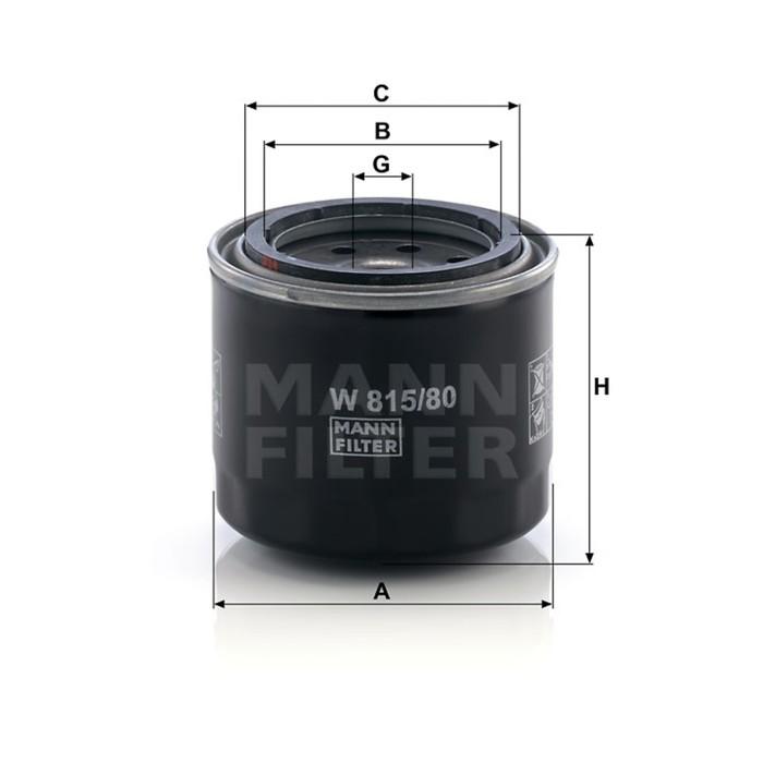Фильтр масляный MANN-FILTER W815/80