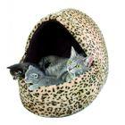 Лежак  Leo для кошки, 40х35х35см, искусственный мех, с рисунком леопард