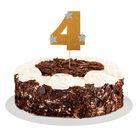"""Топпер для торта """"4"""", цвет золотой"""