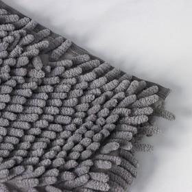 Насадка для плоской двусторонней швабры, 40×10 см, микрофибра, букли, цвет МИКС - фото 4647691