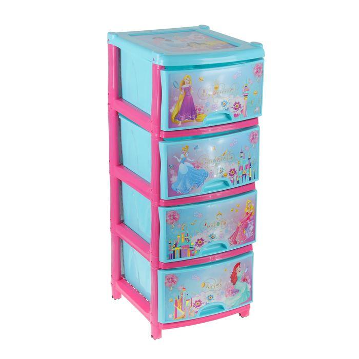 Комод «Принцессы Дисней», 4 ящика