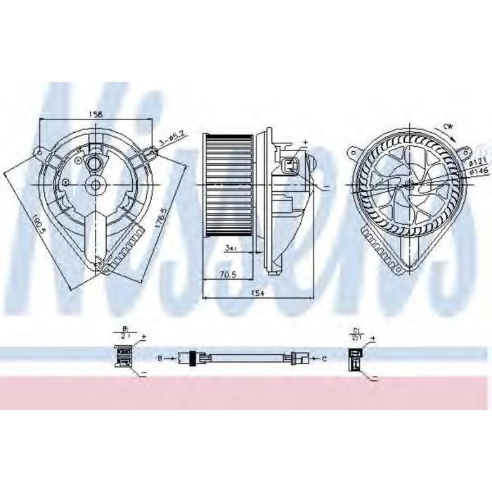 Вентилятор салона NISSENS 87052