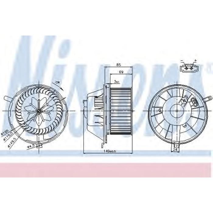 Вентилятор салона NISSENS 87034