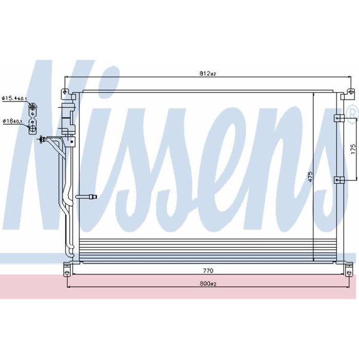 Радиатор кондиционера NISSENS 94724