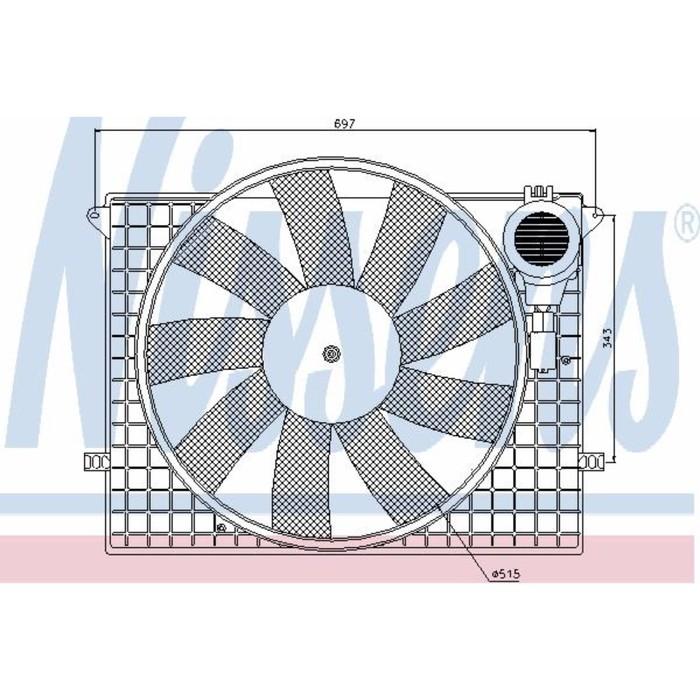Вентилятор двигателя  NISSENS 85401
