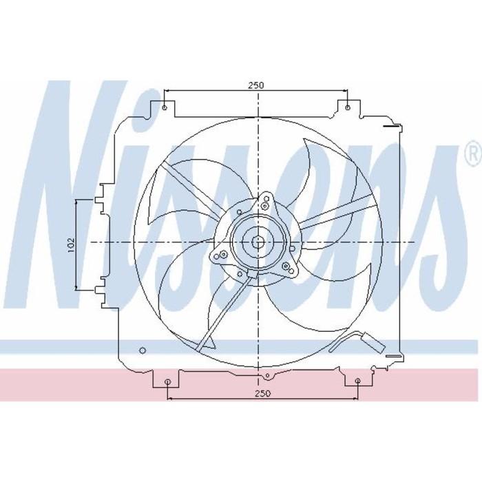 Вентилятор кондиционера NISSENS 85045