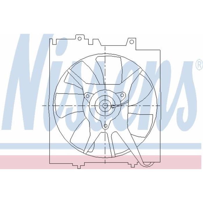 Вентилятор кондиционера NISSENS 85491