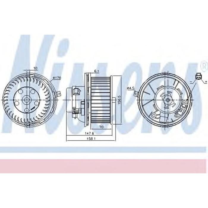 Вентилятор салона NISSENS 87187