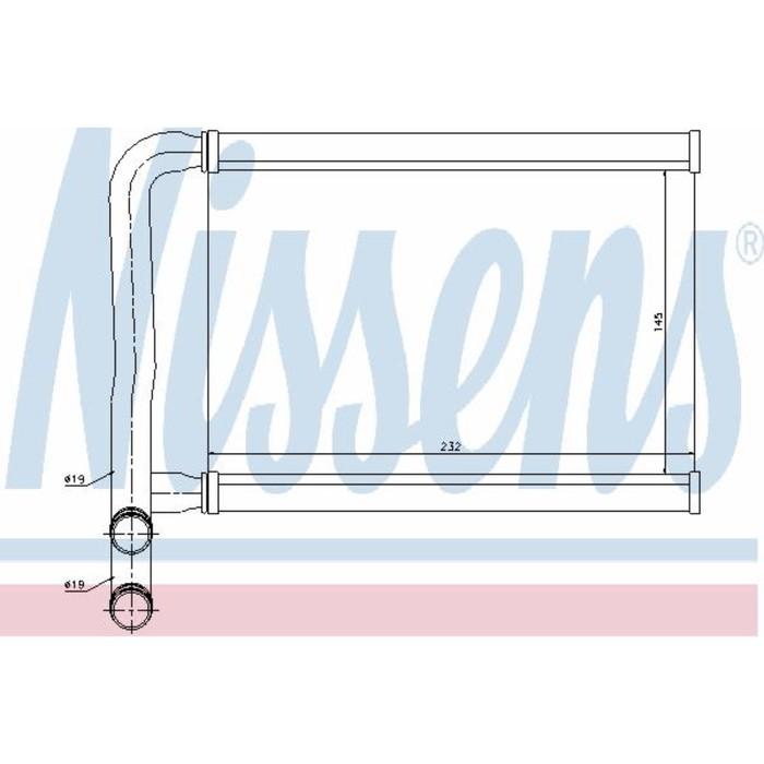 Радиатор печки NISSENS 77631
